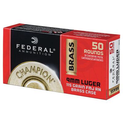 Federal 9mm 50 Round 115gr Full Metal Jacket Ammunition