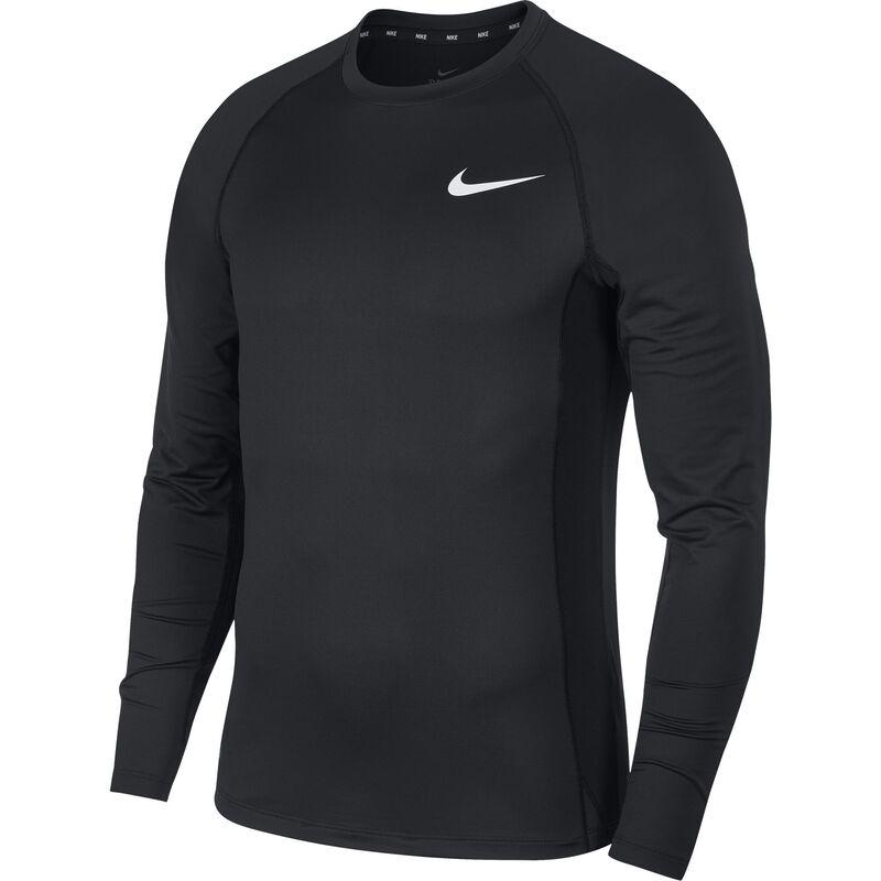 Men's Long Sleeve Slim Fit Top, Black, large image number 2