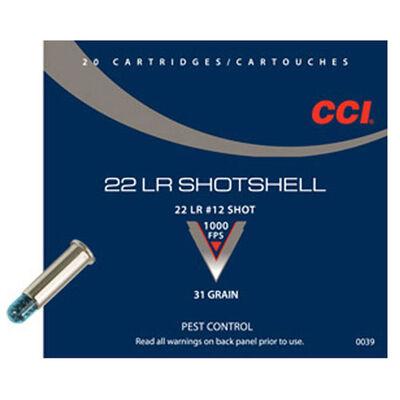CCI 22LR Shotshell 12 Shot 31 Grain Ammunition