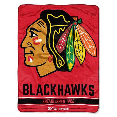Northwest Co Chicago Blackhawks Micro Raschel Throw Blanket