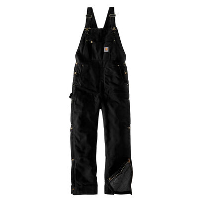 Carhartt Men's Big Loose Fit Firm Duck Insulated Bib Overall