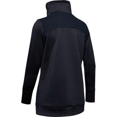 Women's ColdGear Armour Hybrid Pullover, Black, large