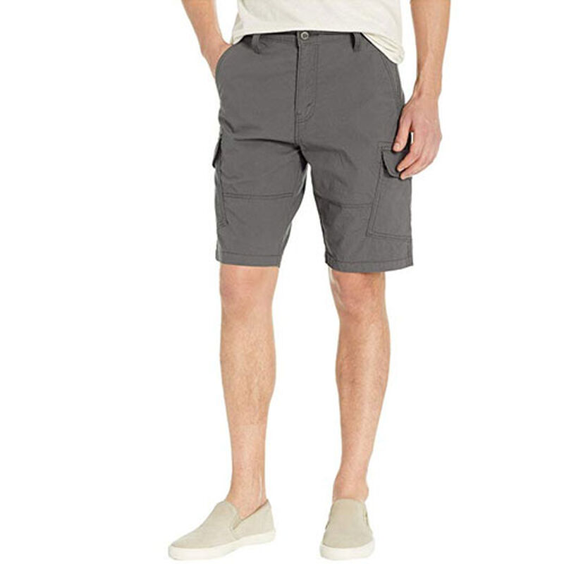 Men's Straight Fit Cargo Shorts, Heather Gray, large image number 0