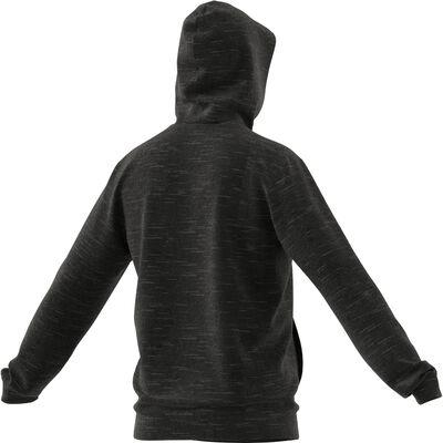 Men's Melange Pullover Hood, Black, large