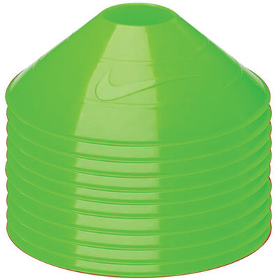 10-Pack Training Cones, Neon Green, large