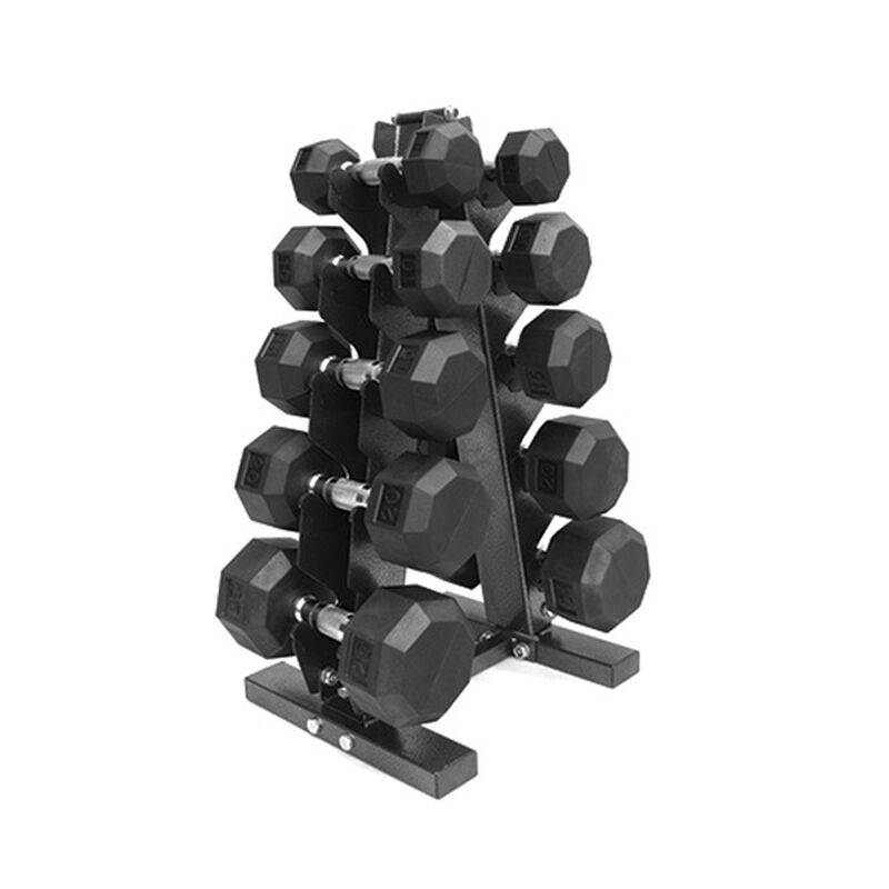 150lb Dumbbell Set with Storage Rack, , large image number 0