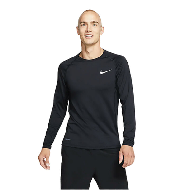 Men's Long Sleeve Slim Fit Top, Black, large image number 3