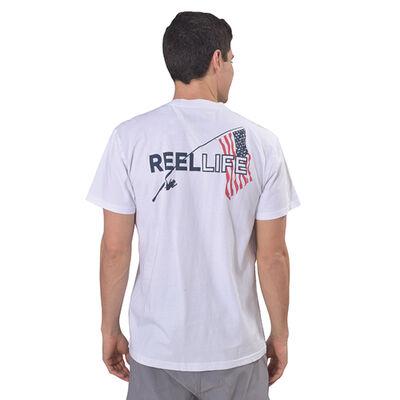 Men's Short Sleeve Reel America Flag Tee, , large