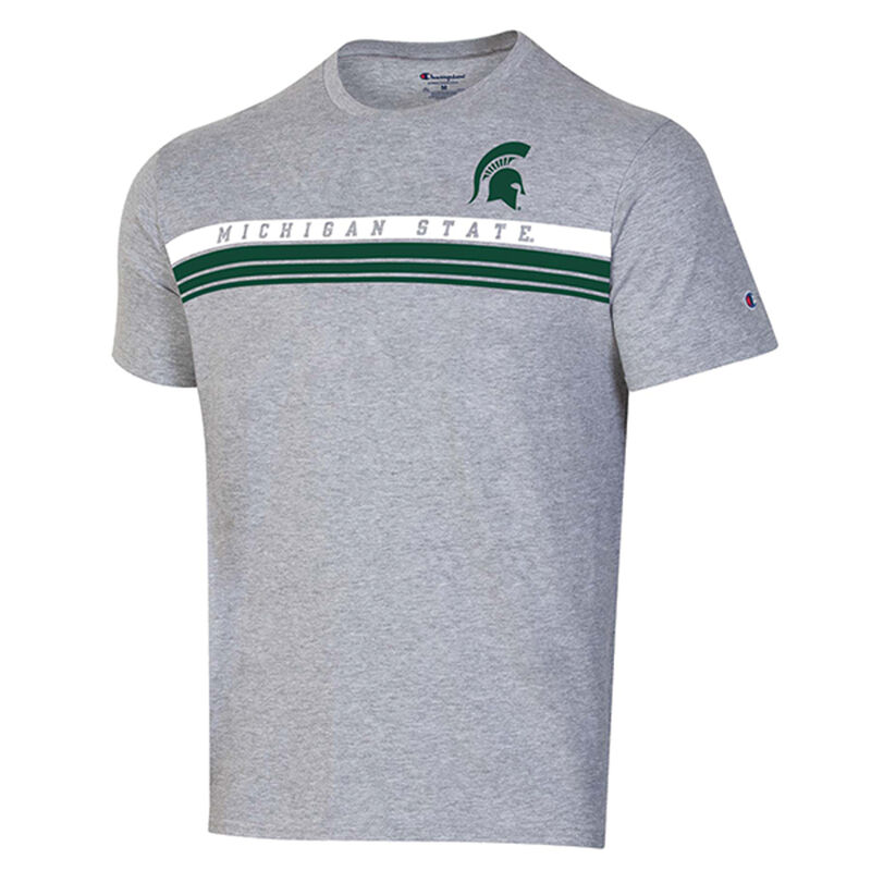 Michigan State Lined Short Sleeve Tee, , large image number 0