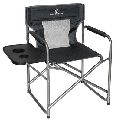 Black Sierra Mesh Director's Chair With Table
