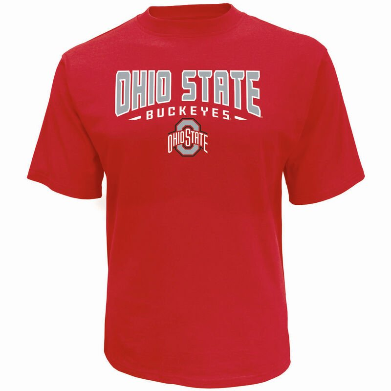 Men's Short Sleeve Ohio State Classic Arch Tee, Red, large image number 0