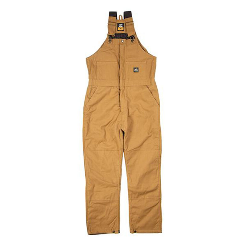 Deluxe Insulated Bib Overalls, Dark Brown,Dark Natural, large image number 0