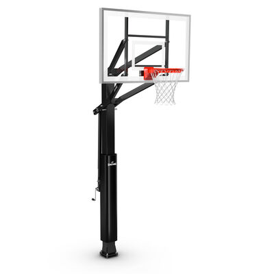 """Glass 60"""" In-Ground Basketball Hoop, , large"""