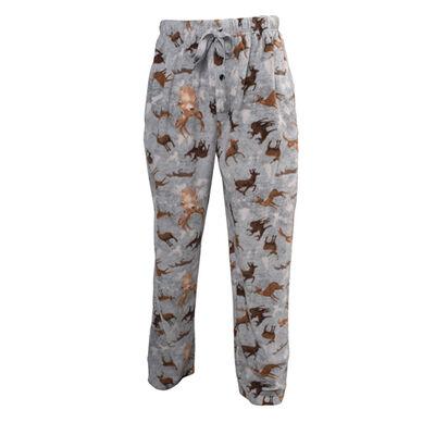 Canyon Creek Men's Deer Fleece Grey Lounge Pants