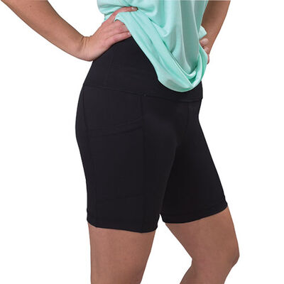 """Women's Lux High Rise 7"""" Side Pocket Shorts, , large"""