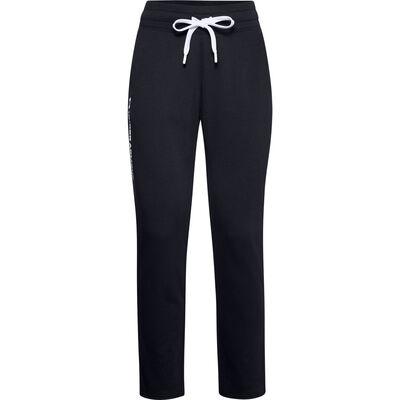 Women's UA Rival Fleece Pants, Black, large