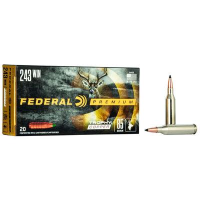 Federal Trophy Copper 243 Win Ammunition