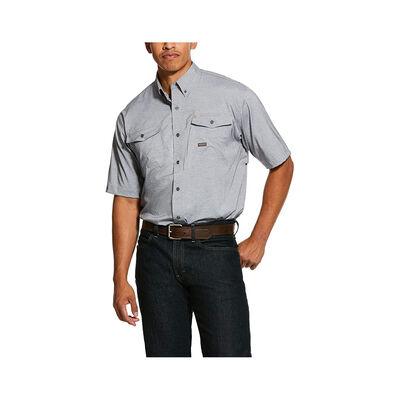Ariat Men's Rebar Made Tough VentTEK Blue Stretch Work Shirt