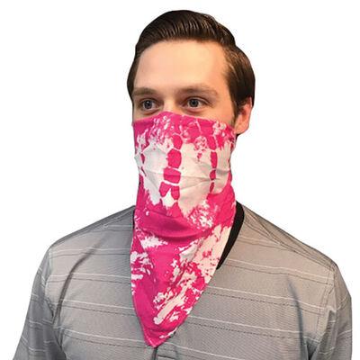 One Color Tie Dye Bandana, Pink, large
