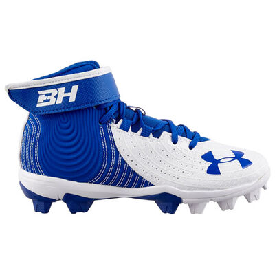 Under Armour Youth Harper 4 Mid Rubber Molded Baseball Cleats