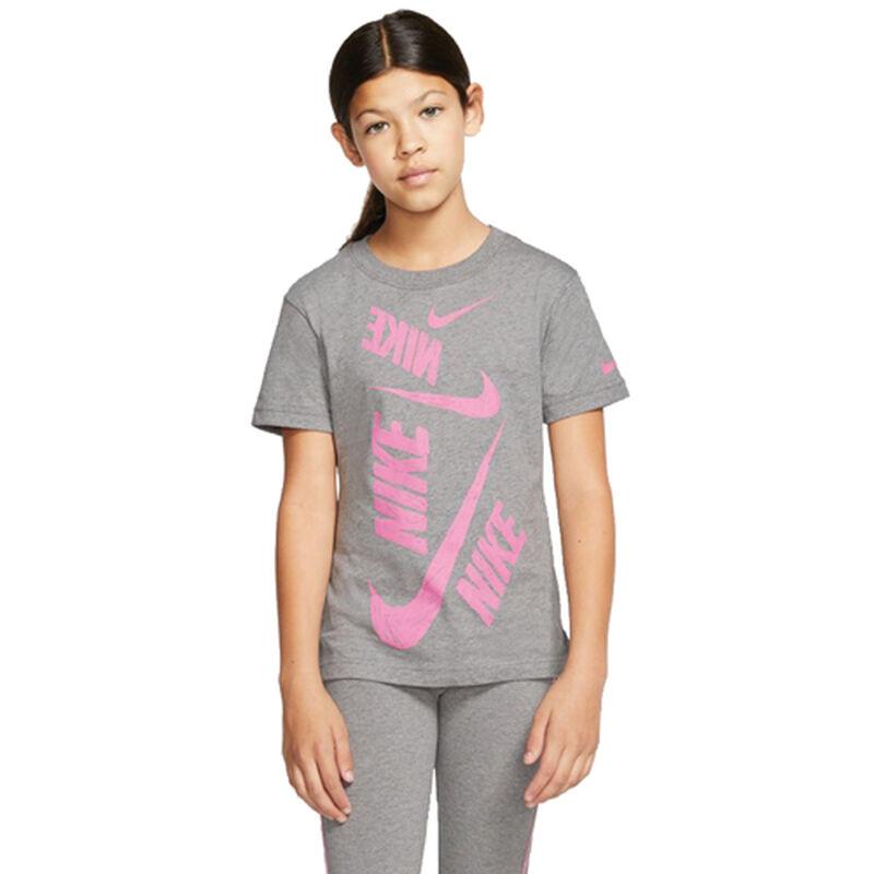 Girls' Double Swoosh Tee, , large image number 0