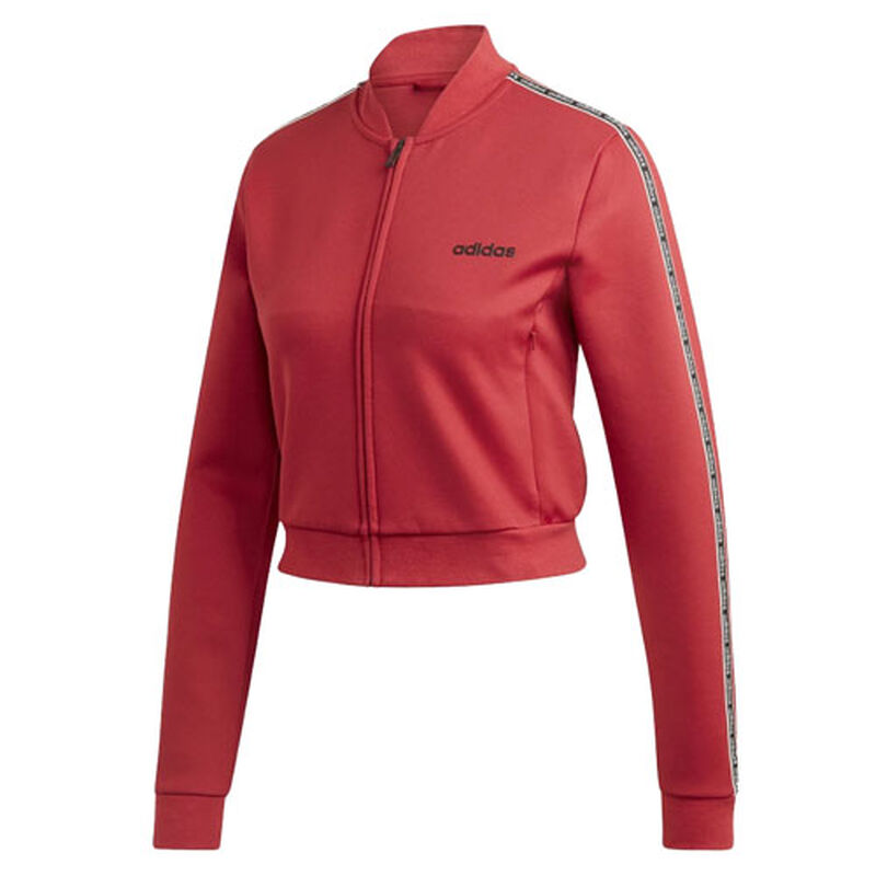 Women's Celebrate The 90's Track Jacket, Dk Red,Wine,Ruby,Burgandy, large image number 0