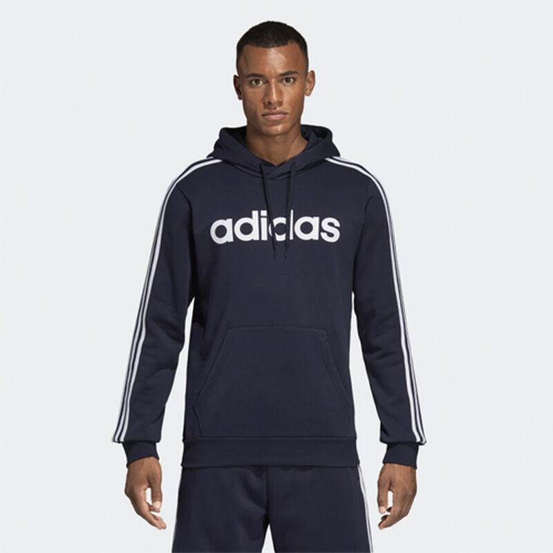 Men's Essentials 3-Stripes Pullover Hoodie, Navy, large image number 0