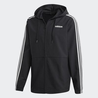 Men's Essential 3 Stripe Woven Front Zip Jacket, , large