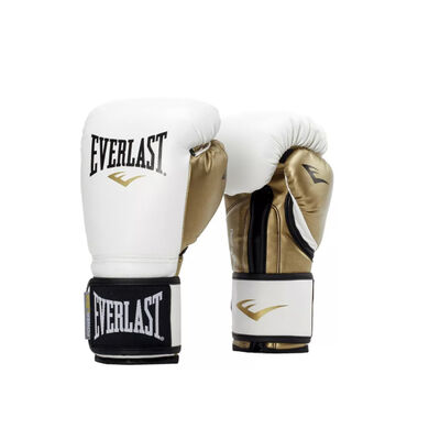 Everlast 12 Ounce Powerlock Hook and Loop Kickboxing Boxing Bag Training Gloves