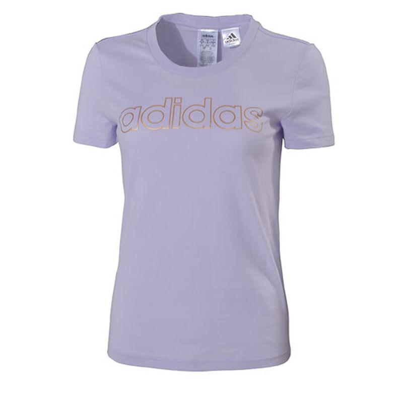 Women's Essentials Branded Short Sleeve T-Shirt, Light Purple, large image number 0