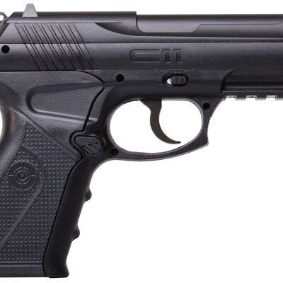 C11 CO2 Semi Automatic Pistol .177 BB Synthetic Black, , large