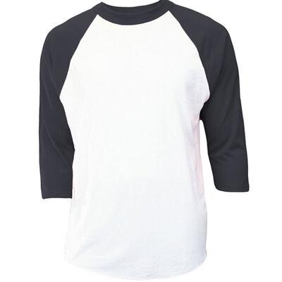 Mj Soffe Youth 3/4 Sleeve Baseball Shirt