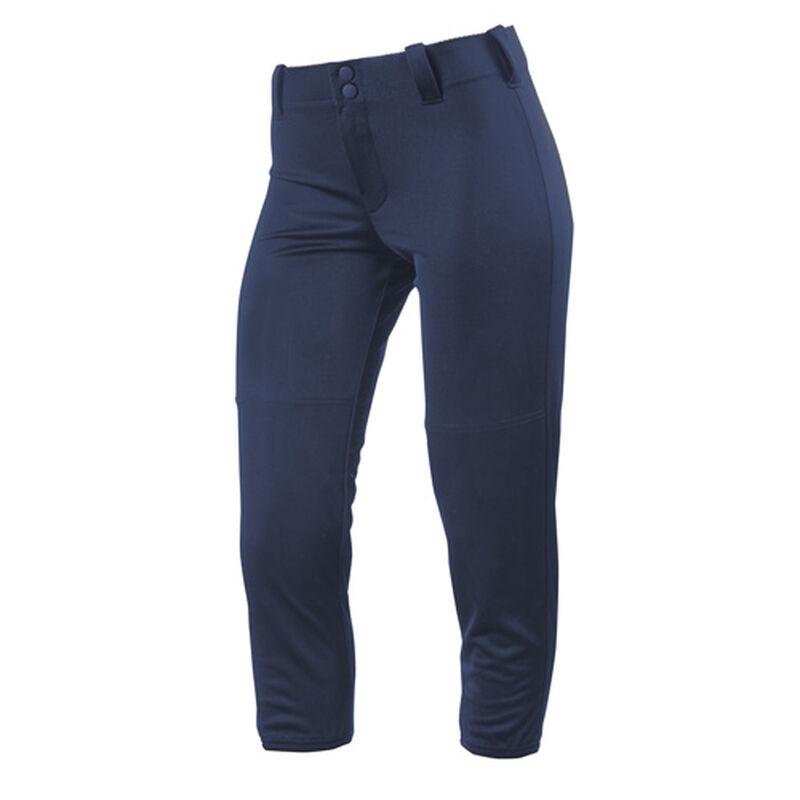 Women's Slap Hit Belted Softball Pant, Navy, large image number 0