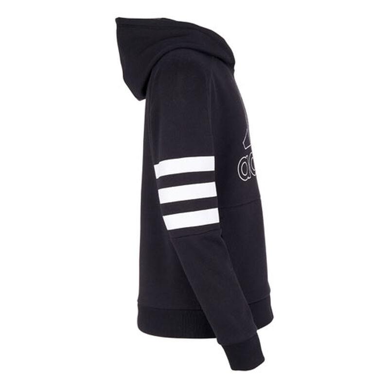 Boys' Badge of Sport Stripe Hoodie, Black, large image number 1