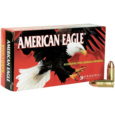 Federal American Eagle 9mm FMJ 124GR Ammunition