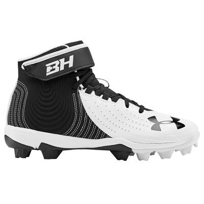 Youth Harper 4 Mid Rubber Molded Baseball Cleats, , large