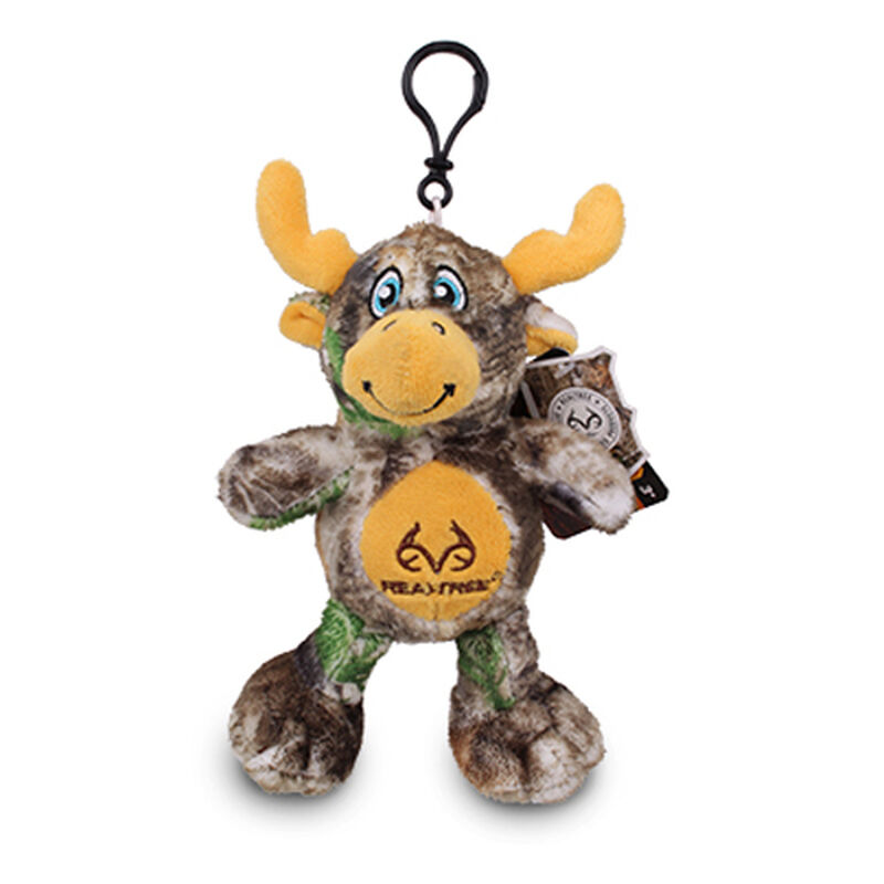 """5"""" Realtree Moose Clip-On Stuffed Backpack Charm, , large image number 0"""