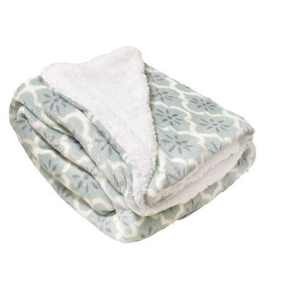 Ludlow Pastel Prints Sherpa Blanket
