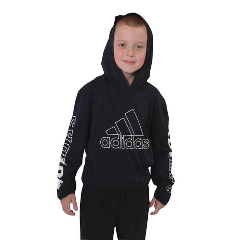 Boys' Long Sleeve Tee, Black, large image number 0