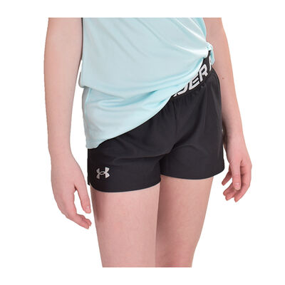 Girls' Play Up Shorts, Black, large
