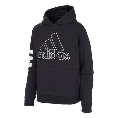 adidas Boys' Badge of Sport Stripe Hoodie