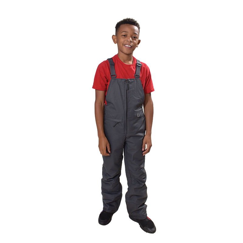 Boys' Insulated Bib Overalls, Charcoal,Smoke,Steel, large image number 0