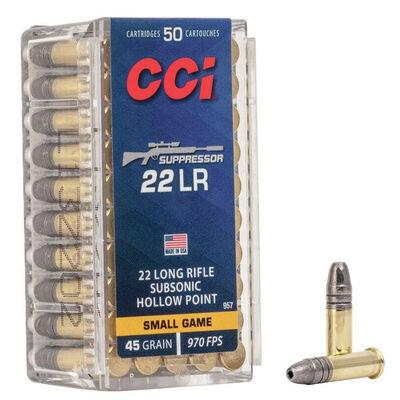 CCI .22LR Suppressor 45GR Ammunition