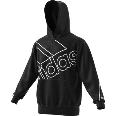 adidas Men's Essentials Giant Logo Hoodie (relaxed Fit)