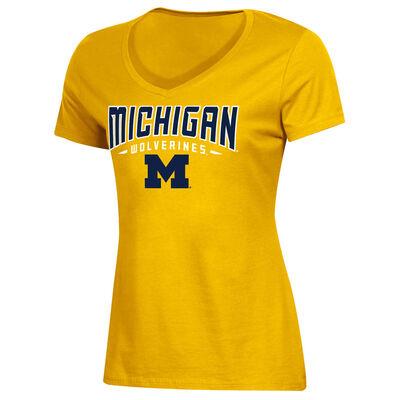 Knights Apparel Women's University of Michigan Classic Arch Short Sleeve T-Shirt