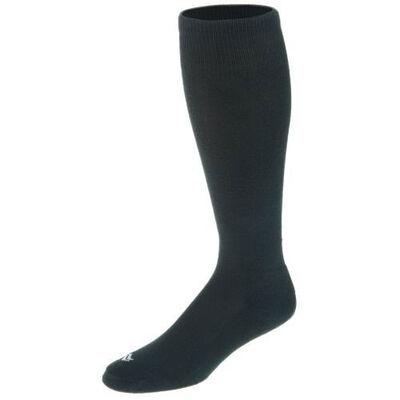 RBI Baseball Over-the-Calf Team Athletic Performance Socks - 2 Pairs (10-12.5), Black, large