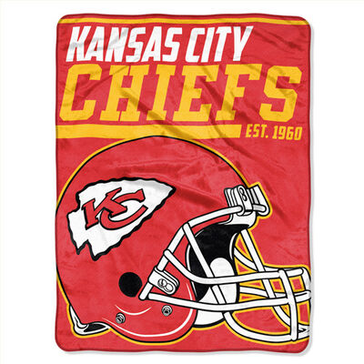 Northwest Co Kansas City Chiefs Micro Raschel Throw Blanket