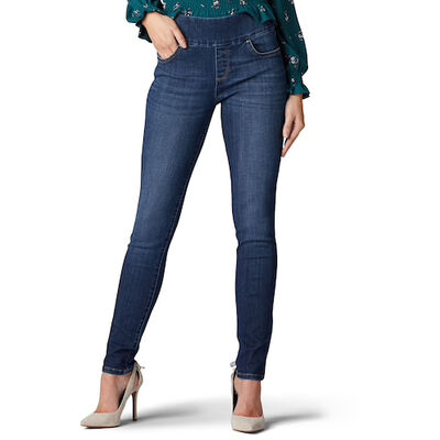Lee Women's Sculpting Pull-On Mid-Rise Jeans