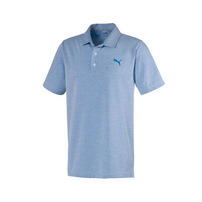 Men's Vertical Polo, Blue, large