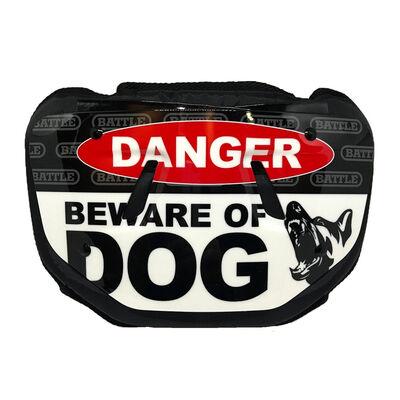 "Battle Sports Adult ""Beware of Dog"" Chrome Back Plate"